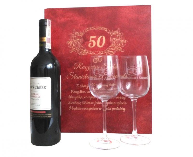 Skrzynka Na Wino 2 Kieliszki W Komplecie Skrzynki Zaro